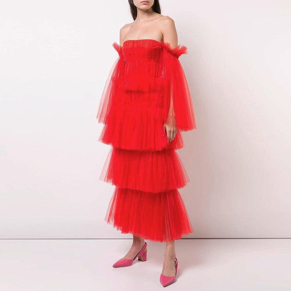 Adyce новое летнее женское кружевное горячее знаменитое вечернее платье Элегантное миди сексуальное красное с открытыми плечами с длинным ру...