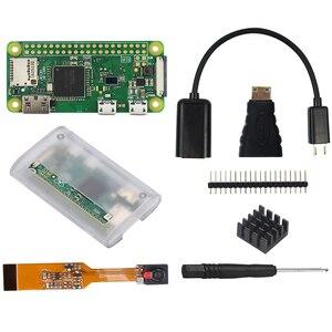 Image 2 - פטל Pi אפס W Starter ערכת 5MP מצלמה + RPI אפס W ABS מקרה + גוף קירור + 5V2A כוח מתאם + 16G SD כרטיס + מתאם ערכת מיני HDMI