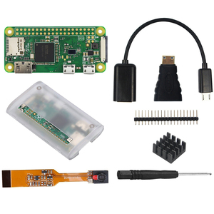 Image 2 - Raspberry Pi Zero W Starter Kit 5MP Camera +RPI Zero W ABS Case+Heat Sink+ 5V2A Power Adapter+16G SD Card+ Adapter Kit Mini HDMI