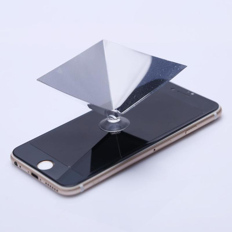 ALLOET Mobile Phone 3D Hologram Projector Display Advertise Holo Box Tablet Showcase Holographic Film Pyramid For iPhone Samsung