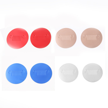Front Seat Car Cup Mat Pad For Jeep Compass 2017+ Car styling Decoration Dustproof Non-slip Interior Accessories 2Pcs/set
