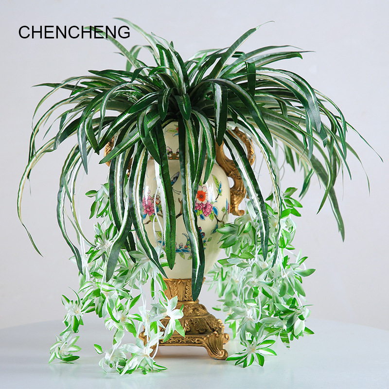 65cm Artificial Flower Cypress Potted Green Plant Hibiscus Fake Flower Set Simulation Plant Living Room Decoration Plastic Silk65cm Artificial Flower Cypress Potted Green Plant Hibiscus Fake Flower Set Simulation Plant Living Room Decoration Plastic Silk
