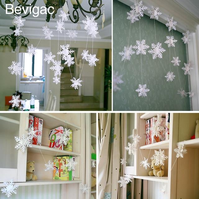 Bevigac 12 PCS Winter Wonderland Snowflake Ornaments with String ...