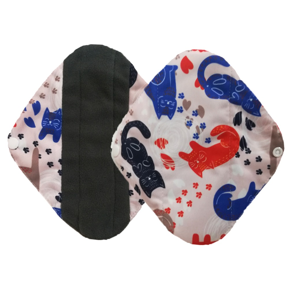 U Pick Size And Color Sanitary Pads Women Reusable Charcoal Bamboo Cloth Pad Soft Menstrual Pad Washable Sanitary Towel Panty