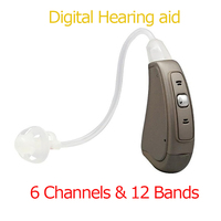 Digital 6 Channels & 12 Bands Hearing Aid Fully Manual Control BTE Digital Program Hearing aids EP07Sound Amplifier Dropshipping