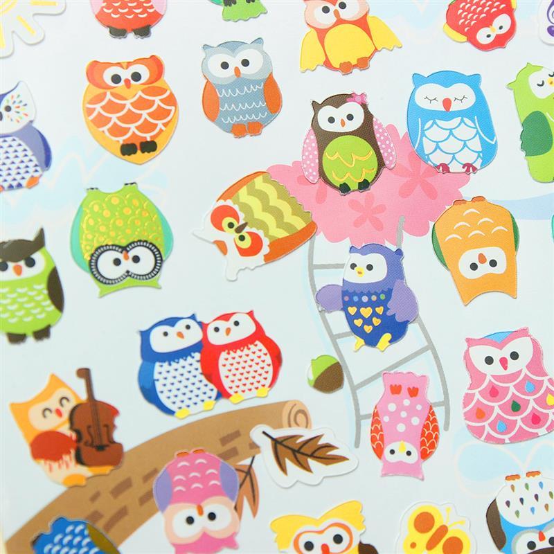 d4ea5b497 ¡Oferta! pegatinas de animales de dibujos animados de Corea bonitas con  diseño de búho, pegatina para Material de Mascota para álbum de fotos, ...