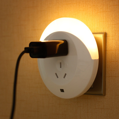 Smart Socket Light Control Induction Small Lamp Creative Novelty Light With Charger Plug-in LED Energy-saving Bedside Lamp Light