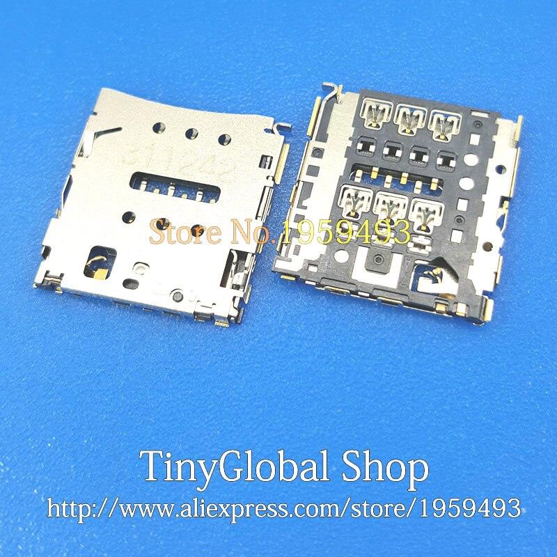 XGE New Sim Card Reader Socket Holder Slot Tray Replacement For Huawei Ascend P6 P6S U06 C00 T00 U00 Honor X1 MediaPad 7D 501u
