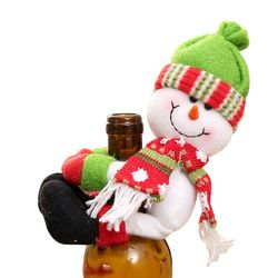 2019 New Christmas Wine Bottle Cover Snowman Santa Claus Bottle Cover Dinner Table Christmas Decorations for Home Xmas Ornaments 5