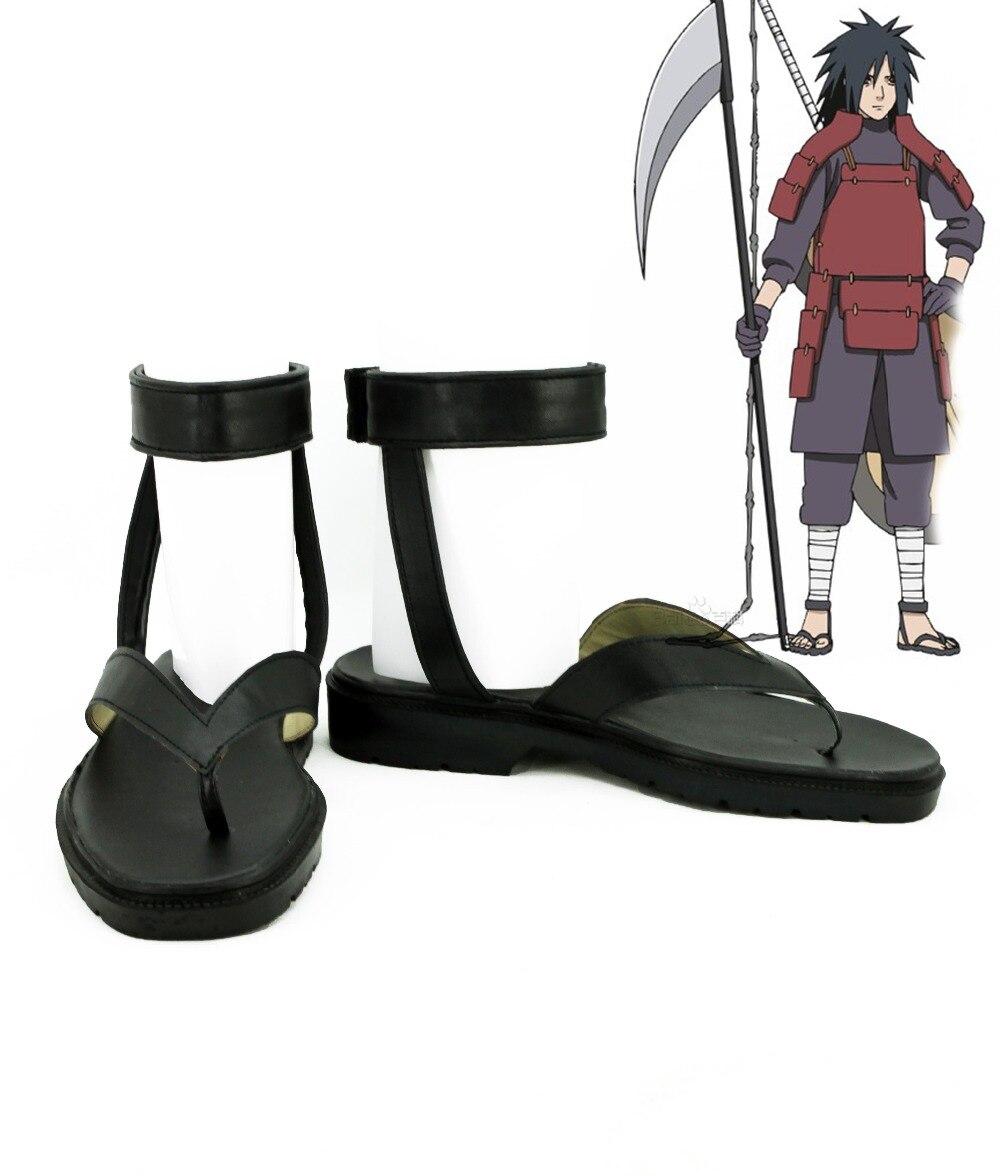 Japan anime Naruto Cosplay Shoes Uchiha Madara Anime Boots Tailor Made