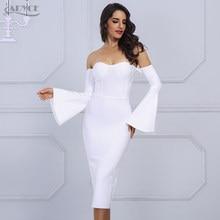 bcbd580f48c6 Adyce 2019 Nuove Donne di Estate Bianco del Vestito Dalla Fasciatura  Elegante di Un Personaggio Famoso