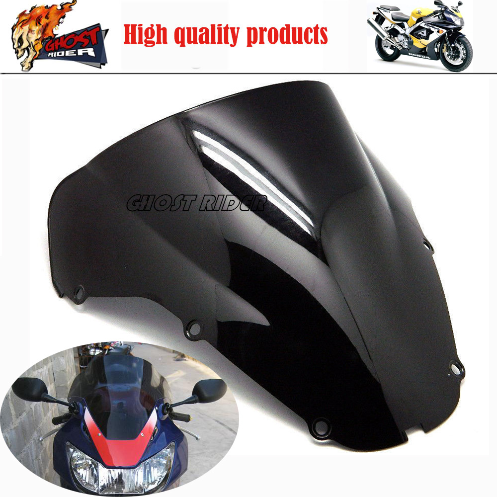 Motorcycle Iridium Black Windshield WindScreen Double Bubble For Honda CBR929RR CBR 929 RR 2000 2001 00
