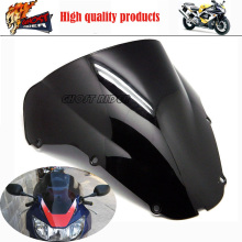 Motorcycle Iridium Black Windshield WindScreen Double Bubble For Honda CBR929RR CBR 929 RR 2000 2001 00 01 WS1049