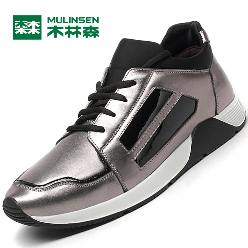 MuLinSen Men's Running Shoes Black/blue/gun color Outdoor Best Quality Wear Non-slip Sneakers Sport Shoes 260077 mulinsen brand new winter men sports hiking shoes cowhide inside keep warm sport shoes wear non slip outdoor sneaker 270606