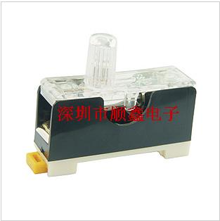 6X30 Fuse Holder FS-101 Single-joint Rail Lighted Fuse Holder Fuse Box Fuse Holder