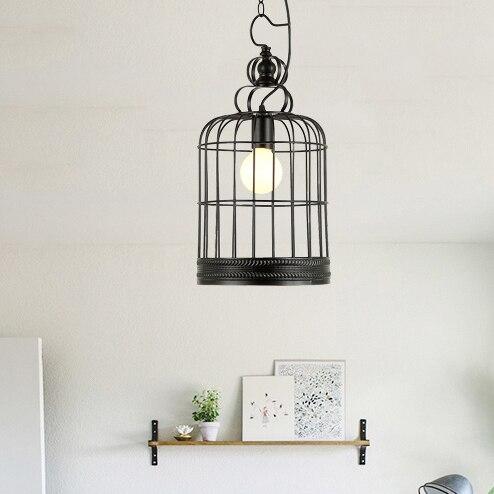 Лофт Утюг фонари подвесные светильники ретро ресторан кафе отточить лампы освещения промышленного ветер черный клетке, подвесные светильн...