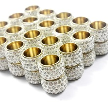 2 sets 10mm Diameter Hole Magnetic Clasp with Clear Rhinestones
