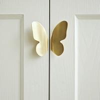 Butterfly Brass Handle Drawer Cabinet Wardrobe Pure Copper Door Handle cabinet knobs and handles brass cabinet handles