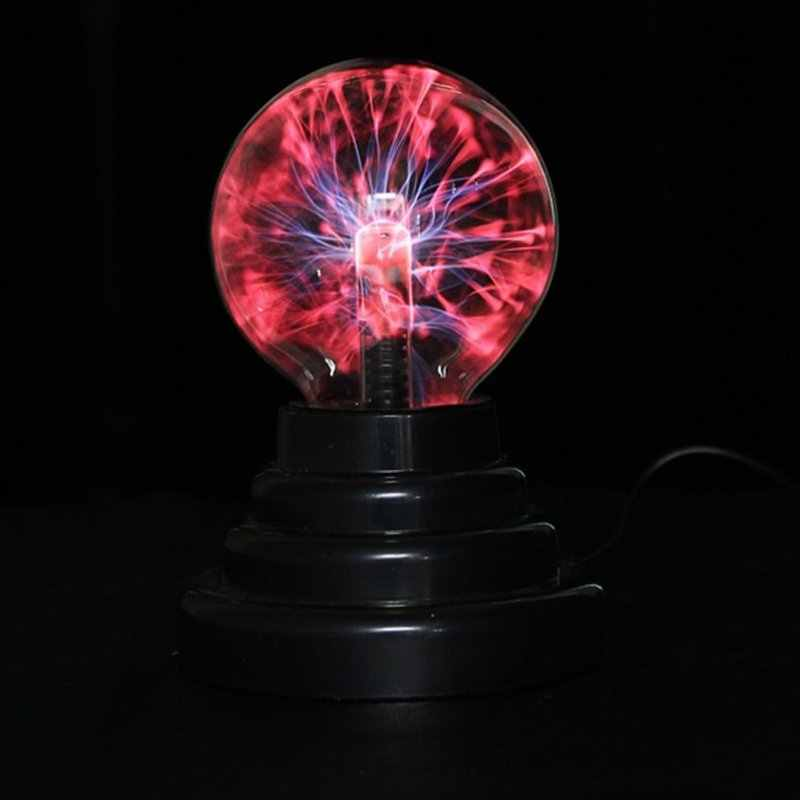 3 дюймов Магия Плазменный Шар Ретро Свет Детская комната Декор подарочной коробке Lightning свет лавы лампы для рождественской вечеринки декор Cristal лампы