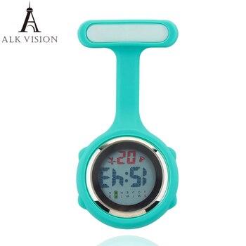 2019 Digital Silicone nurse watch fob pocket watch doctor nurse timepiece brooch lapel Medical Nurse Watch Quartz with Clip ALK