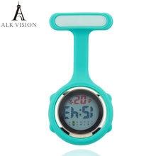 2021 Цифровые силиконовые часы медсестры fob карманные брошь