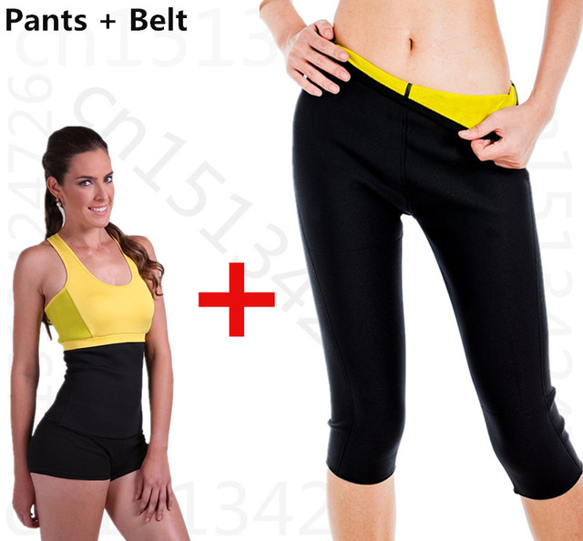 Пояс + брюки. super stretch Горячие Формочек Неопрена Фитнес-набор Для Похудения Управления Трусики Ноги Сауна Shaper Fit Трико shaper Body