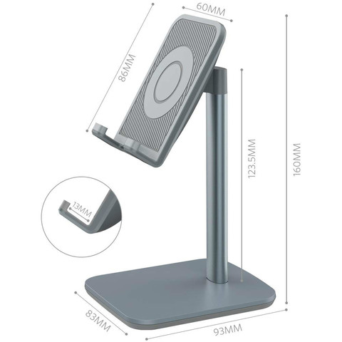 "Vogek Universal Desk Phone Holder for for iPhone XS Max XR Desktop Holder Stand Mount for iPad Smartphone Tablet 7-10"" Islamabad"