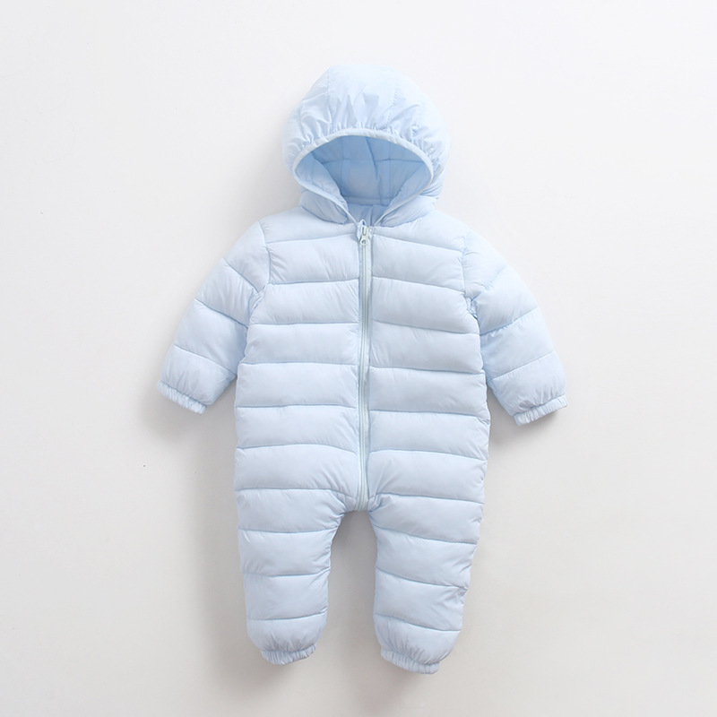 2018 New Winter Baby Clothes Baby Boys Girls Rompers Long Sleeve Hooded Solid Kids Rompers Children Baby Jumpsuit Costume hsp206 2017 lovely newborn baby rompers infant bebes boys girls short sleeve printed baby clothes hooded jumpsuit costume outfit 0 18m
