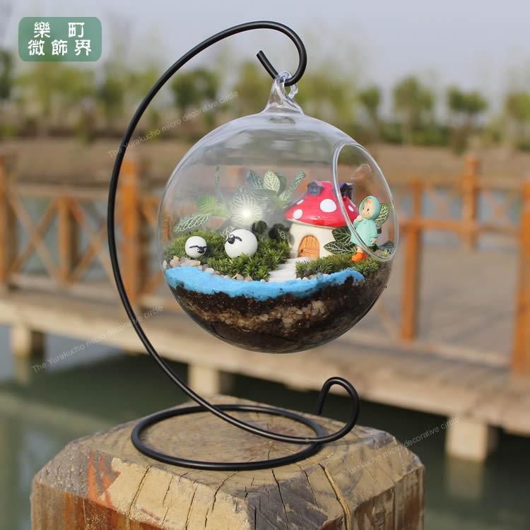 O.RoseLif New Handmade Ball Vase Heart Moon Iron Stand Simple Stylish  Hanging Glass Plant Vase Home Decor Halloween In Vases From Home U0026 Garden  On ...