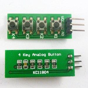 Image 2 - 10 Uds., con UNO MEGA2560, código de ejemplo Botón de teclado de salida analógica para Arduino, 3,3 V, 5V, 4 botones, 1