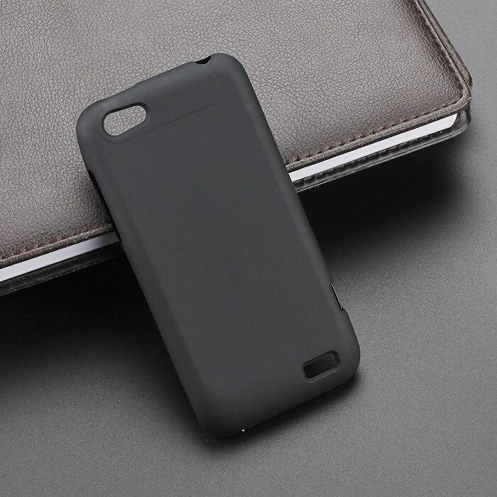 5d1b74f1cddb Noir gel tpu mince doux anti skiding case couverture arrière pour htc one v  t320e téléphone portable caoutchouc silicone sac coque fundas