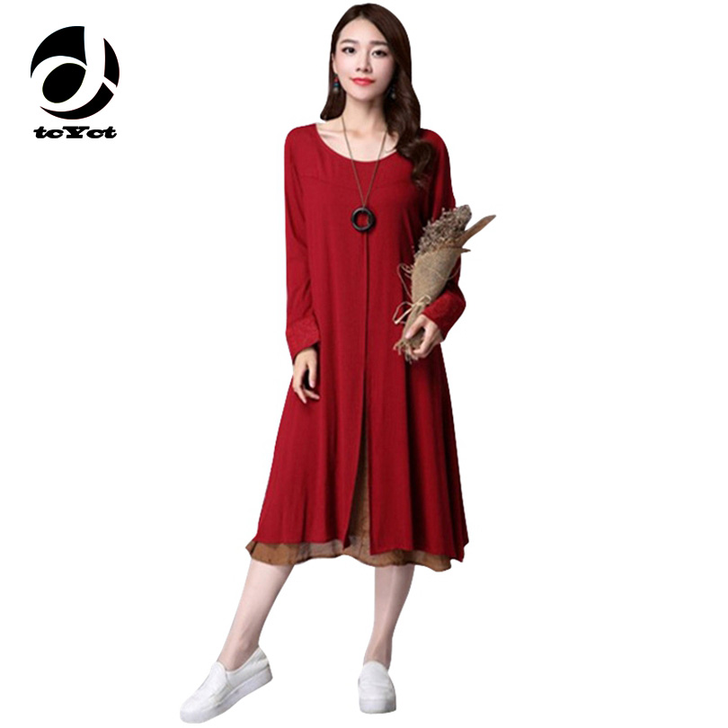 tcYct Two-piece Linen Maternity Dress Long Nursing Clothing Maternity Clothes For Pregnant Women Pregnancy Vestdios Ropa