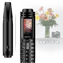 Pen mini Cellphone 0.96″ Tiny Screen GSM Dual SIM Camera Flashlight Bluetooth Dialer Mobile Phones with Recording pen