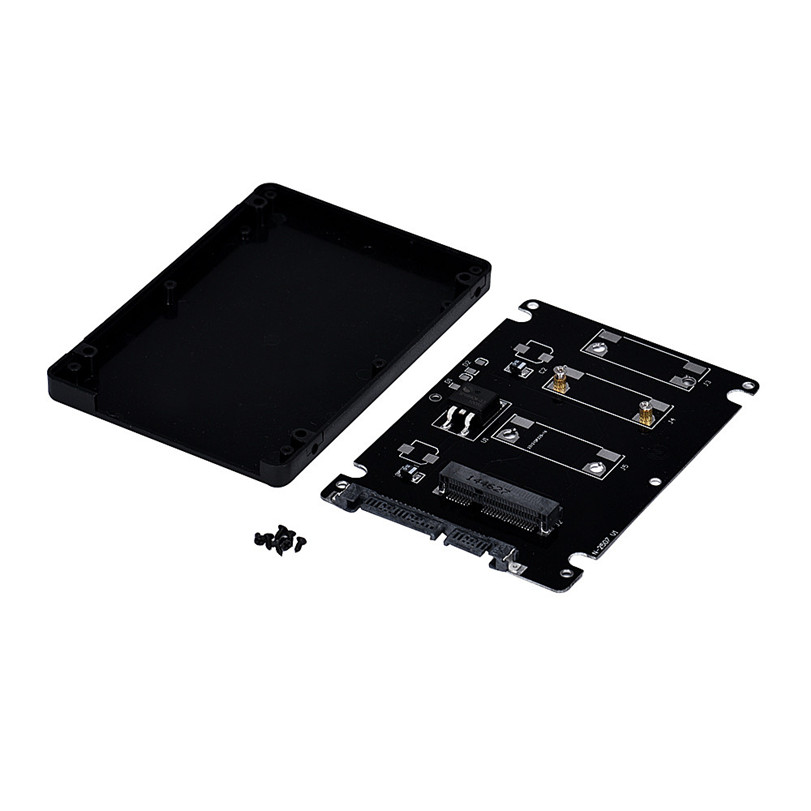 Hot-sale 10cm x 7cm x 0.7cm Mini pcie mSATA SSD To 2.5 Inch SATA3 Adapter Card With Case Gifts