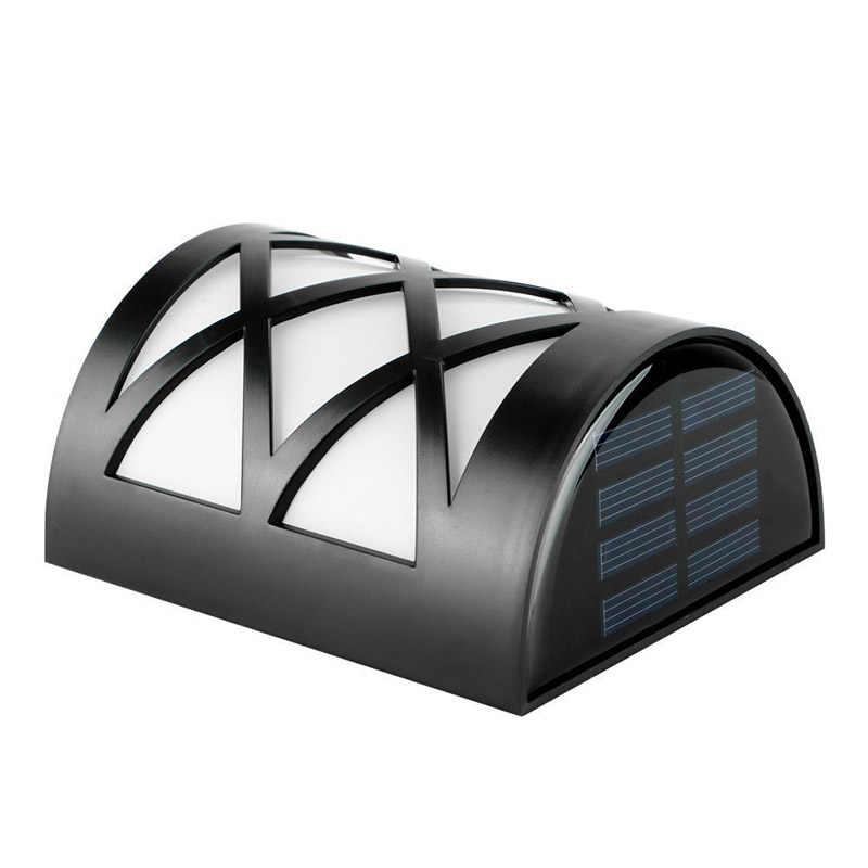 6 шт./партия СВЕТОДИОДНЫЙ Солнечный свет водонепроницаемый IP55 6 сенсорные светодиоды легкий наружный светильник Настенный светильник солнечной энергии заряженный светодиодный солнечный светильник