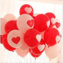 10pcs/lot Red/White Heart Latex Balloons Inflatable Round Air Ball Wedding Happy Birthday Party Balloons Decoration