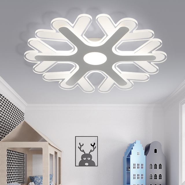 Ultrathin Acrylic Snowflake Shape Led Chandeliers Lights For Study Kids Room Bedroom Modern Led Ceiling Chandelier Fixtures New