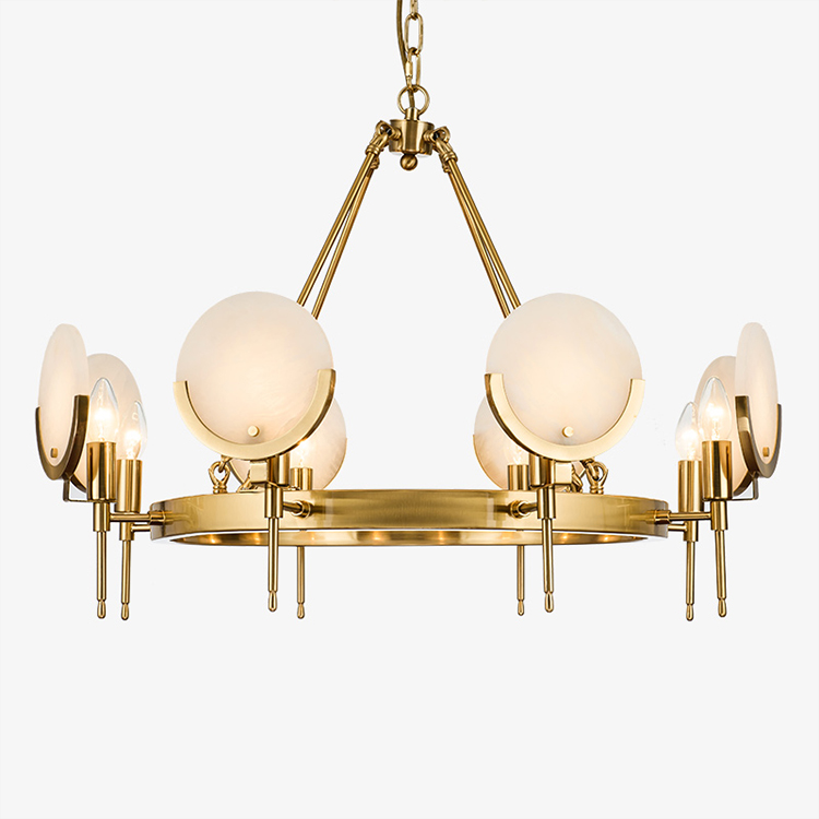 Modern LED Chandelier Lighting for living room/bedroom gold large modern chandeliers suspension jade shade luxury home light new luxury modern crystal chandeliers led living room chandelier lighting fixtures gold plated hanging lights with glass shade