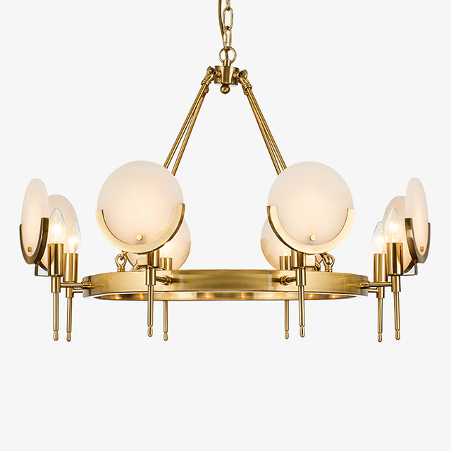 Us 894 0 Modern Led Chandelier Lighting For Living Room Bedroom Gold Large Chandeliers Suspension Jade Shade Luxury Home Light In Pendant