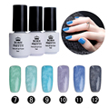 BORN PRETTY Fur Effect Soak Off Nail Art UV Gel Polish 6 Colors/set 5ml Winter Color 7-12