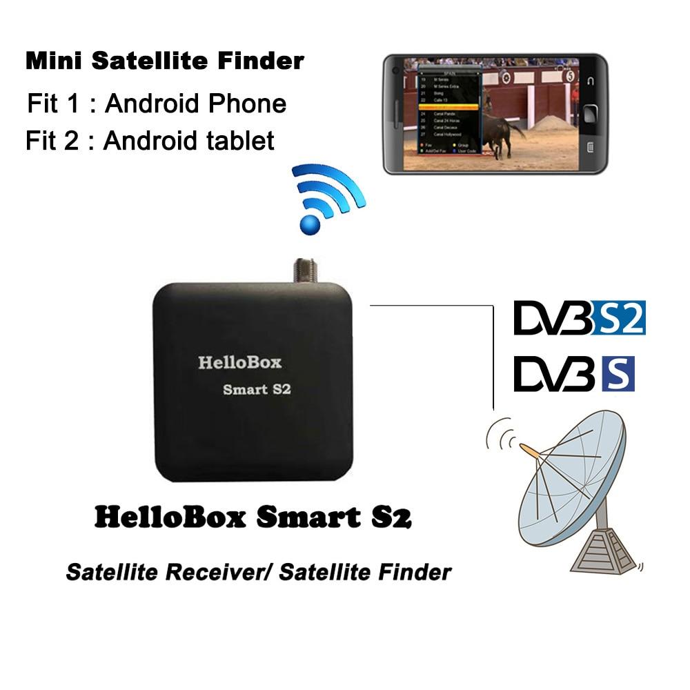 Phone Satellite Finder Hellobox Smart S2 DVB S2 Satellite Receiver Play On Android Phone/PC Tablet Receiver DVBPlayer DVBFinder