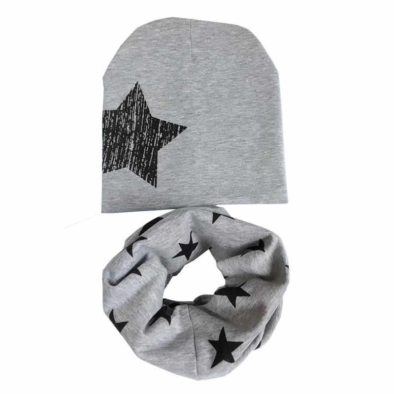 2019 ใหม่ฤดูใบไม้ร่วงสาวฤดูหนาวหมวกโครเชต์เด็กหมวกเด็กหมวกเด็ก Beanies หมวกฤดูใบไม้ผลิเด็กหมวกผ้าพันคอผ้าพันคอ