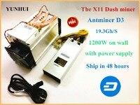 DASH Miner ANTMINER D3 19.3 GH/s With 1800W Power Supply X11 Dashcoin Mining Machine