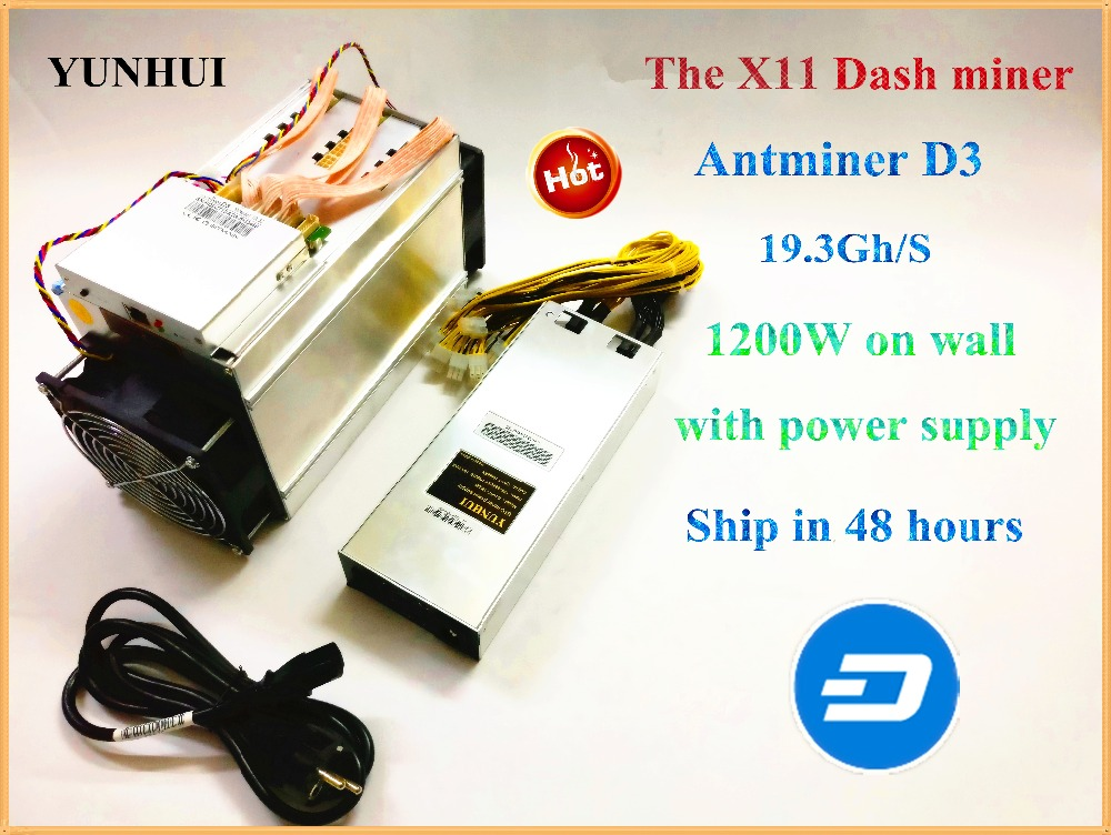 DASH Mineur ANTMINER D3 19.3 GH/s Avec 1800 w Alimentation X11 Dashcoin Minière Machine