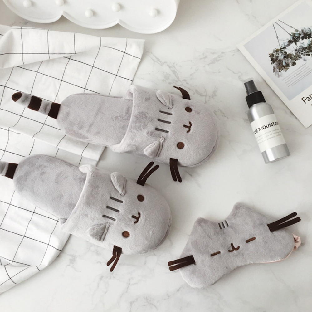 1pc  Eye Mask Plush Toys Stuffed Toys Cat Drawstring Bag/Hair Hoop Decor Girls Gifts Toys For Children