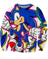 Sonic Crewneck Sweatshirt sonic the blue Hedgehog Moletons sexy sweats long sleeve clothing game hero hoodies for women men