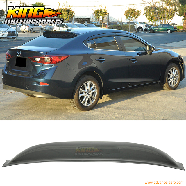 fit 2014 2016 mazda 3 sedan 4 door rear roof spoiler window visor wing in spoilers wings from. Black Bedroom Furniture Sets. Home Design Ideas