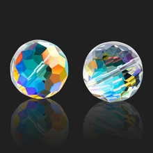 11mm/13mm/15mm Super shiny Faceted crystal beads pendant round glass beads Wheel Loose spacer beads for Jewelry making DIY 10PCS цены