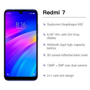 Image 4 - Globalny rom Xiaomi Redmi 7 4GB 64GB 4000mAh Smartphone octa core Snapdragon 632 12MP kamera 6.26 cal 19:9 pełny ekran