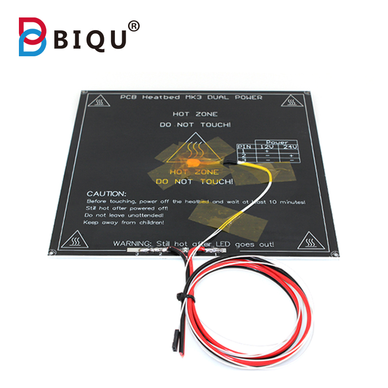 BIQU3D printer parts PCB MK3 heatbed dual power LED Resistor Cable 100K ohm Thermistors Aluminum heated